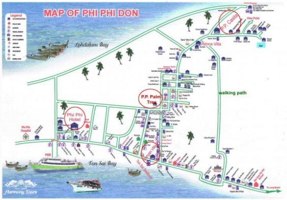 Map of P.P. Palmtree Resort